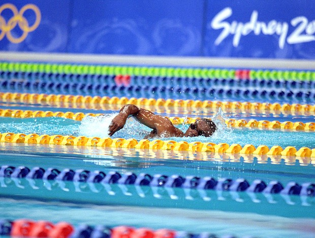 Eric Moussambani natação Olimpíadas 2000 (Foto: Getty Images)