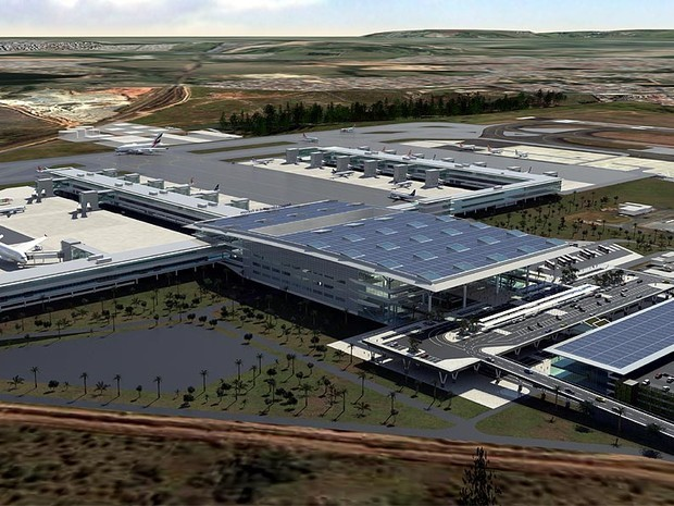 Perspectiva com o plano de ampliação do Aeroporto de Viracopos em Campinas (Foto: Divulgação / Aeroportos Brasil Viracopos)