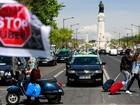 Milhares de taxistas protestam contra Uber em Portugal