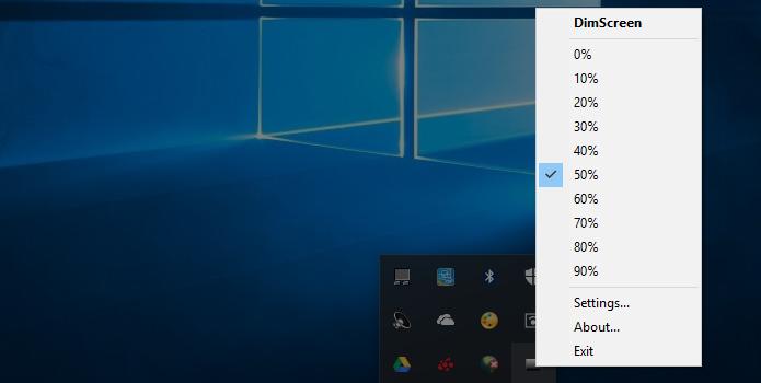 DimScreen permite mudar o nível de brilho com o mouse (Foto: Reprodução/Paulo Alves)