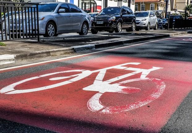 Ciclovia ; símbolo de ciclovia ; Ciclovia na Avenida Paulista ; mobilidade urbana ; transporte alternativo ;  (Foto: Reprodução/Facebook)