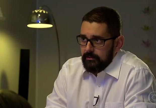 O fiscal Daniel Gouvêia Teixeira, auditor fiscal do Ministério da Agricultura, em entrevista ao Fantástico (Foto: Reprodução/TV Globo)