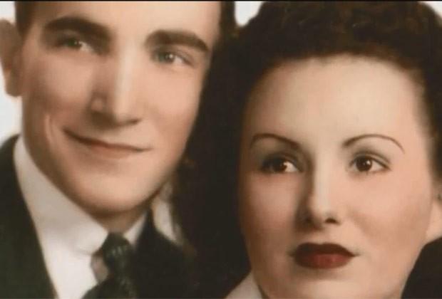 Fred e Lorraine posam juntos ainda novos (Foto: Reprodução)