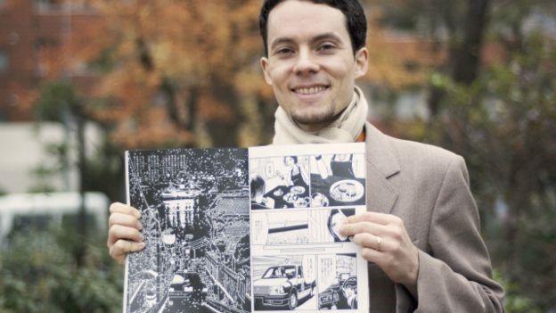 O desenhista brasileiro Angelo Vasconcelos Levy (Foto: BBC Brasil)