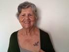 Idosa tatua no DF avião para marido morto: 'Um dia voltaremos a voar'
