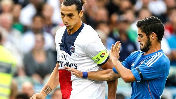Ibrahimovic jogo PSG contra Real Madrid (Foto: AP)