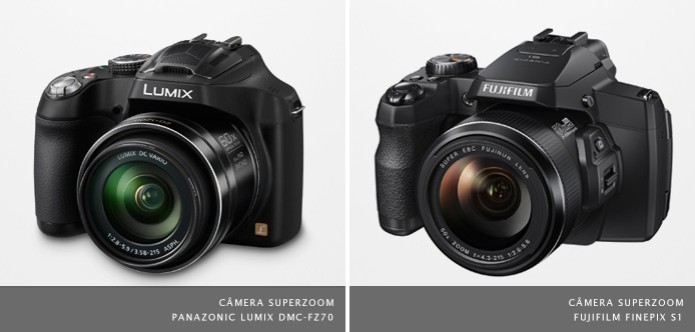 """Alguns modelos de câmeras superzoom possuem abertura máxima maior que a das lentes 18-55 mm """"do kit"""" (Foto: Divulgação) (Foto: Alguns modelos de câmeras superzoom possuem abertura máxima maior que a das lentes 18-55 mm """"do kit"""" (Foto: Divulgação))"""