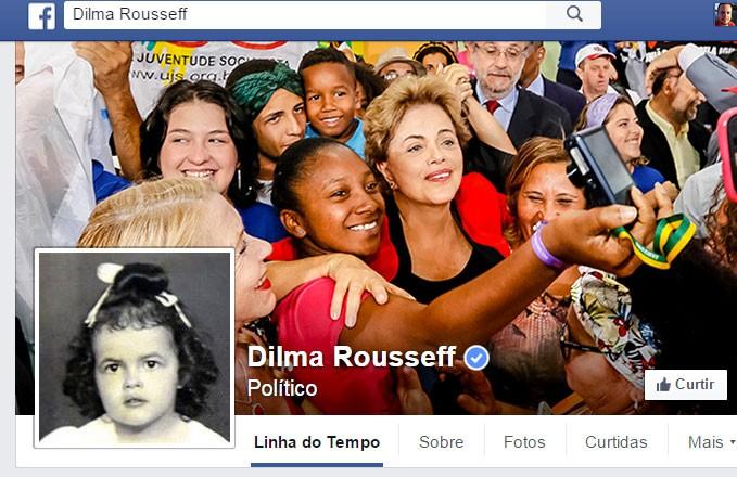 Foto de Dilma Rousseff criança no perfil da prseidente no Facebook (Foto: Reprodução/Facebook/Dilma Rousseff)