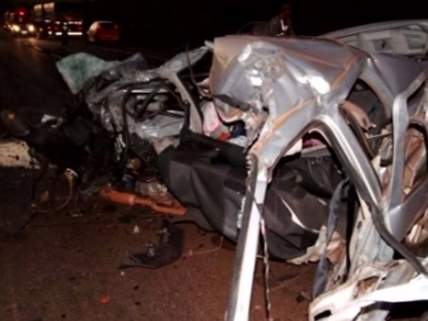 Jovem sem CNH morre em acidente na BR-452, em Maurilândia, Goiás (Foto: Reprodução/ TV Anhanguera)