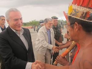 Amorim índios Temer (Foto: Tahiane Stochero/G1)