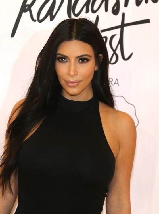 Kim Kardashian lança coleção em SP (Foto: AG.News)