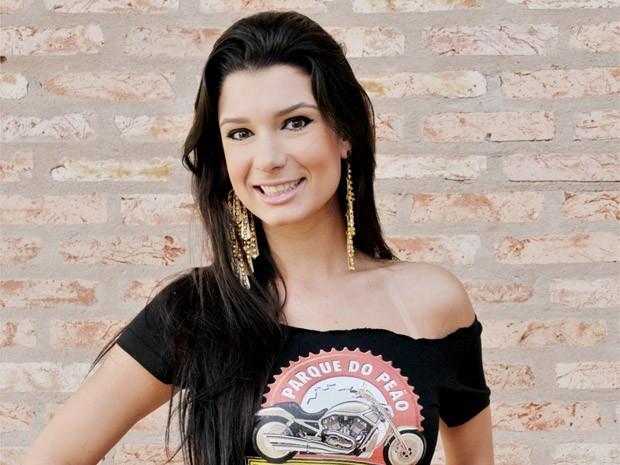Lígia Rodrigues, 19 anos, foi eleita a Garota Motorcycle 2013 em Barretos, SP (Foto: André Monteiro/Divulgação)