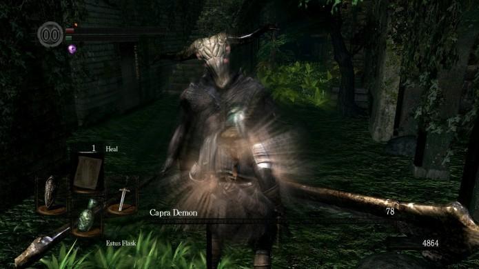 Há chances de Capra Demon dropar sua arma ao morrer (Foto: Reprodução/Youtube)
