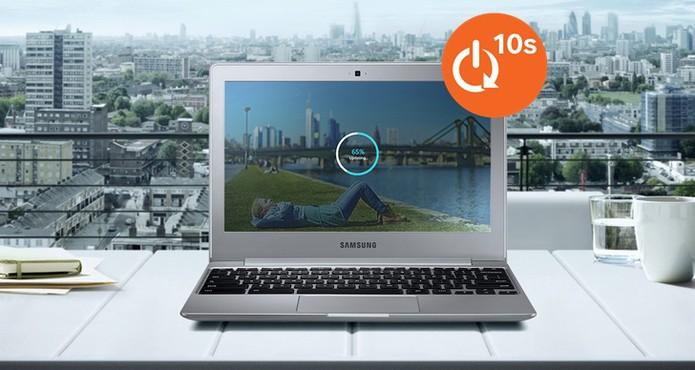 Samsung Chromebook 2 promete inicialização rápida do sistema (Foto: Divulgação/Samsung)