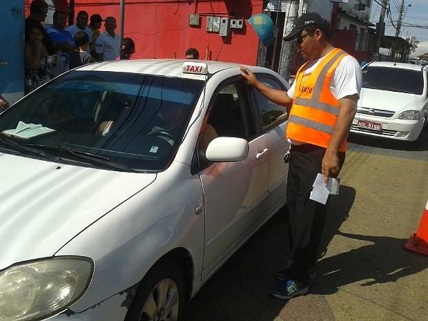 Ação foi realizada em via na Zona Sul da capital (Foto: Divulgação/SMTU)