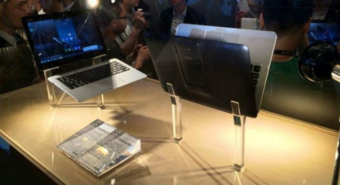 Exposição dos notebooks híbridos lançados pela Asus na computex 2014 (Foto: Asus/Marcel Campus)