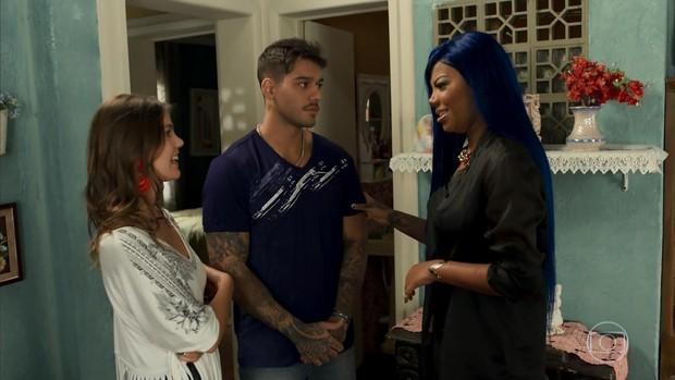 Ludmilla participa de Malhação, ao lado de Lucas Lucco e Pâmela Tomé (Foto: Reprodução/TV Globo)