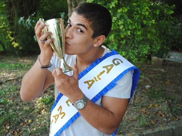 Douglas Sampaio venceu a Batalha de Galãs em 2011 (Foto: Cristina Cople / Gshow)