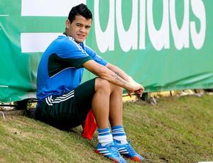 Mendieta no treino do Palmeiras (Foto: Agência Estado)