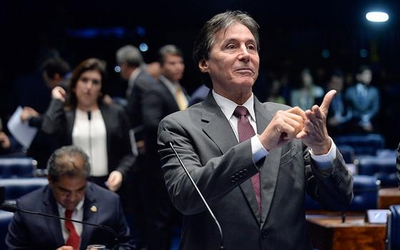 O senador Eunício Oliveira (PMDB-CE) (Foto: Jefferson Rudy/Agência Senado)