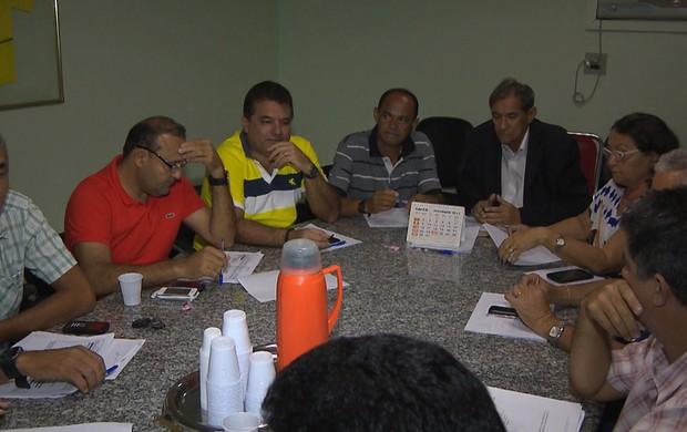conselho arbitral do campeonato paraibano 2014 (Foto: Reprodução / TV Cabo Branco)