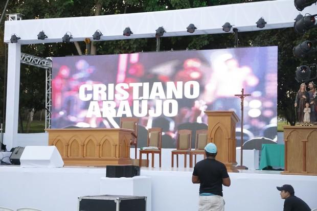 Missa de sétimo dia de Cristiano Araújo (Foto: Evandro José / EGO)