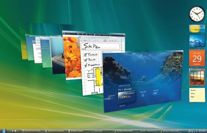 Windows Vista focou na interface mais era problemático (Foto: Divulgação/Microsoft)