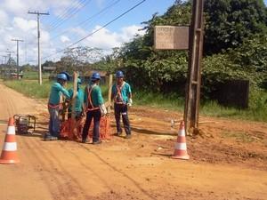 Oi foi a responsável pela obra no lado brasileiro (Foto: Isabelle Braña/Agência Amapá)