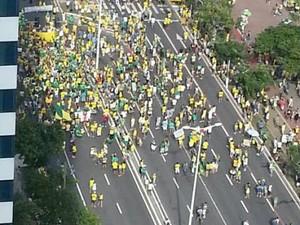 Manifestação em Vitória (Foto: Natanael Silva/ TV Gazeta)