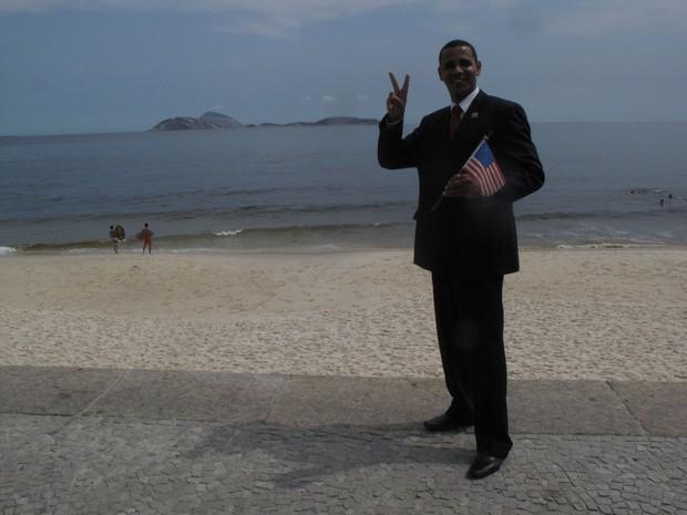 Rinaldo Galdêncio é sósia do presidente americano, Barack Obama (Foto: Marcelo Elizerdo/G1)