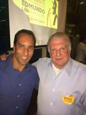 Edmundo e Olavo Monteiro de Carvalho, ex-presidente da Assembleia Geral (Foto: Reprodução)