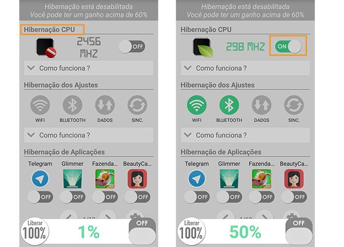 Ative o redutor de frequência do processamento do Android (Foto: Reprodução/Barbara Mannara)