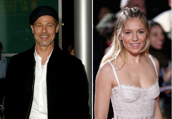 O ator Brad pitte a atriz Sienna Miller (Foto: Getty Images)