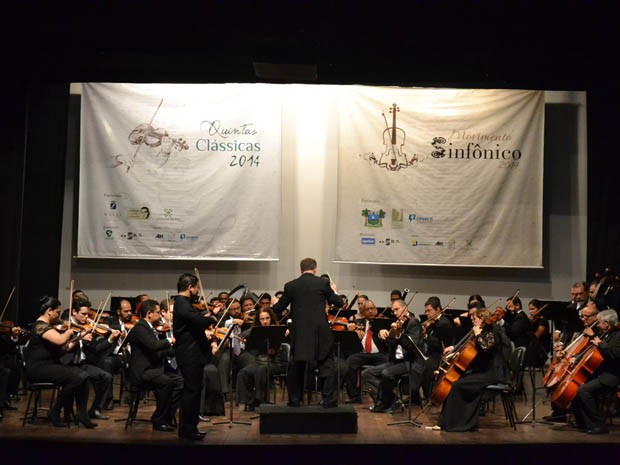 Orquestra Sinfônica do RN se apresenta no Teatro Alberto Maranhão (Foto: Pedro Ferreira)