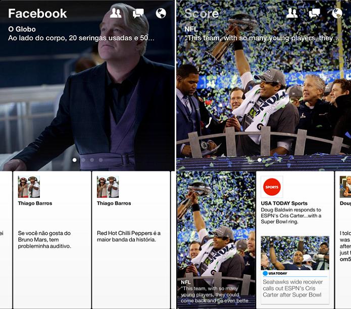 Novo app do Facebook é um leitor de conteúdo (Foto: Thiago Barros/TechTudo) (Foto: Novo app do Facebook é um leitor de conteúdo (Foto: Thiago Barros/TechTudo))