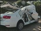 Local da colisão que matou oito não tinha sinais de frenagem, diz polícia