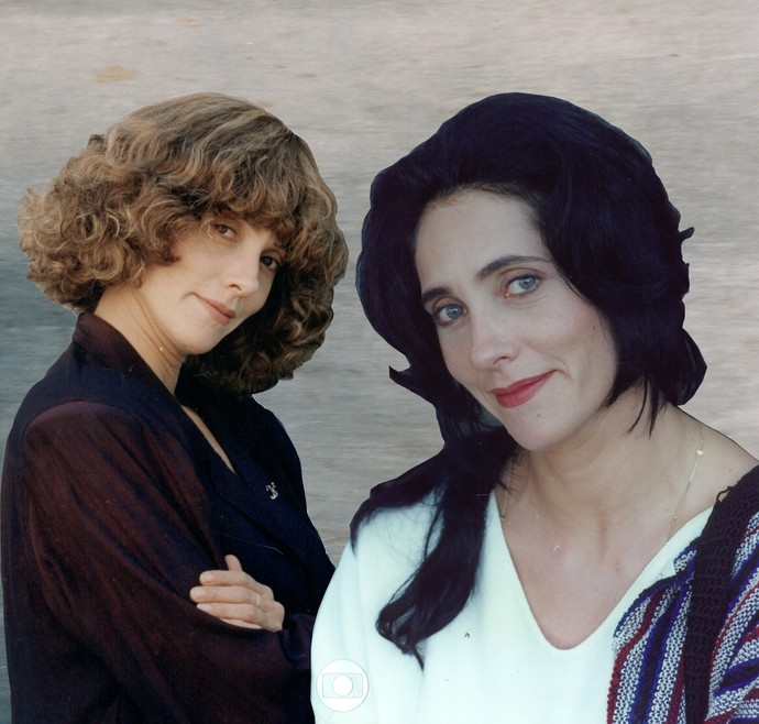 Fernanda e Vivi, papel duplo de Christiane Torloni em 'Cara & Coroa' (Foto: CEDOC / TV Globo)