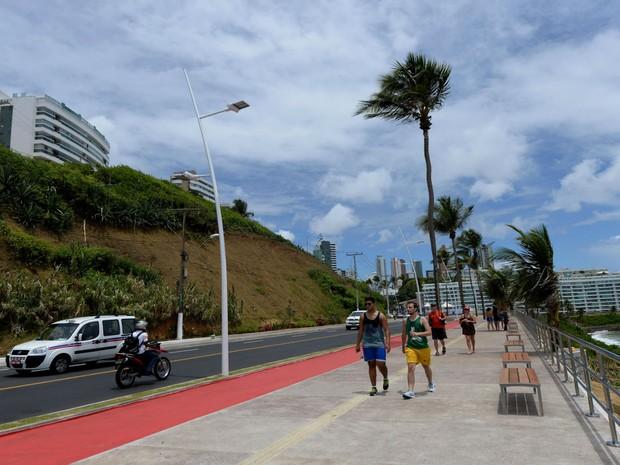 Obras atingiram cerca de um quilômetro de extensão, entre o Barra Center e o Clube Espanhol. (Foto: Divulgação / AGECOM)