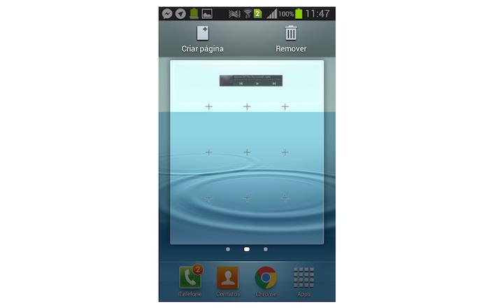 Adicionando um widget na tela do Galaxy Gran Duos (Foto: Reprodução/Marvin Costa)