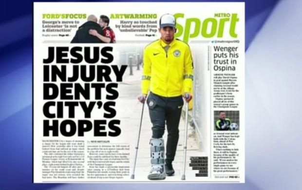 Jornal Metro também faz trocadilho: Jesus e a fé de conquistas