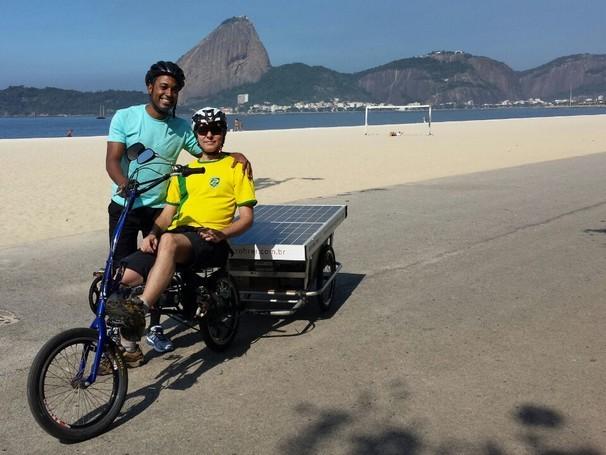 Hoje é dia de bicicleta (Foto: Globo)