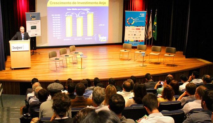 Cassio Spina, fundador da associação Anjos do Brasil, durante 2º Congresso de Investimento Anjo.