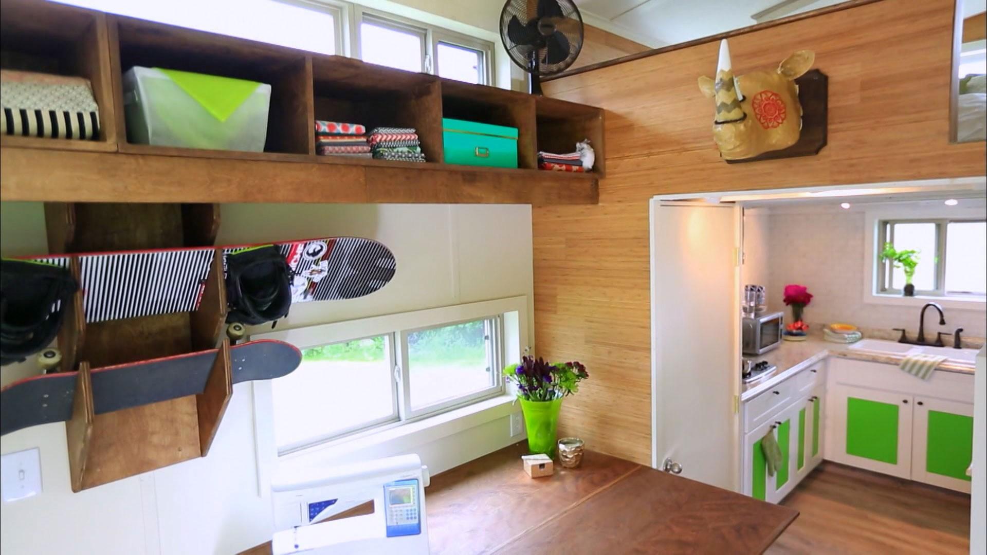 Casa de 20m comporta banheira cozinha completa quarto Home decor survivor 5 ep 13