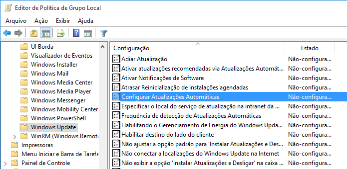 Acesse a chave relacionada ao Windows Update (Foto: Reprodução/Helito Bijora)