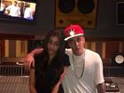 Justin Bieber e Selena Gomez se reencontram em estúdio de Miami