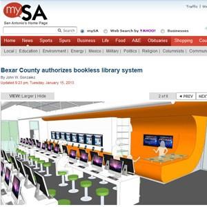Biblioteca vai parecer uma loja da Apple, conforme juiz do condado (Foto: Reprodução)