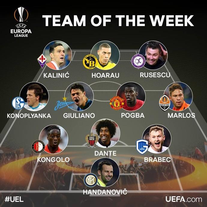 Seleção da semana Liga Europa (Foto: Reprodução)