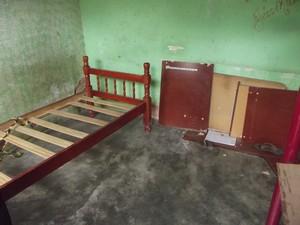 interior da residência (Foto: Ana Carolina Caldeira/G1 )