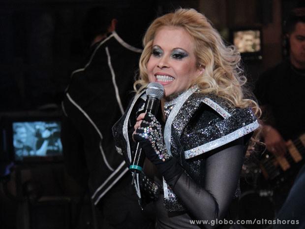 Joelma se apresenta com a banda Calypso no Altas Horas (Foto: TV Globo/Altas Horas)