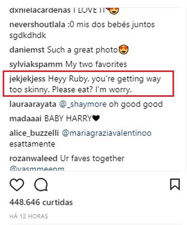 Magreza de Ruby Rose preocupa fãs (Foto: Reprodução/Instagram)